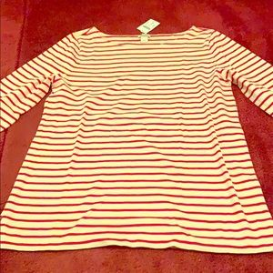 Striped J Crew long sleeve shirt